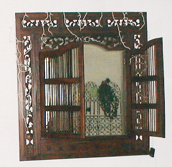 L 39 atelier de lica id e d co relooker un miroir marocain for Miroir antique en bois