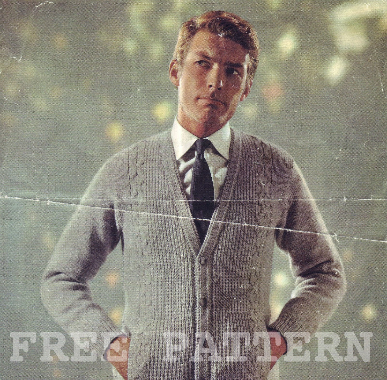 The Vintage Pattern Files: 1950\'s Knitting - Mens Double Knit Cardigan