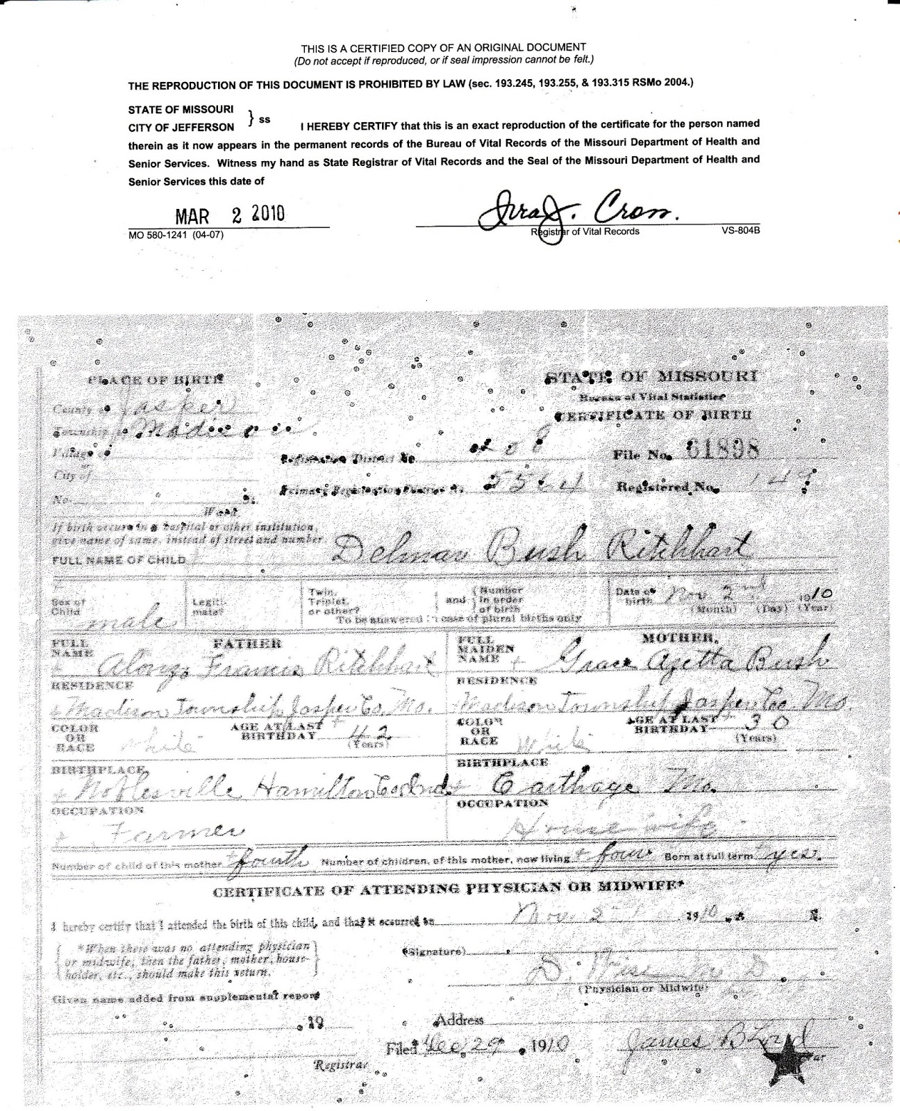 Del\'s Genealogy Ramblings: An Erroneous Birth Certificate--Why Was ...