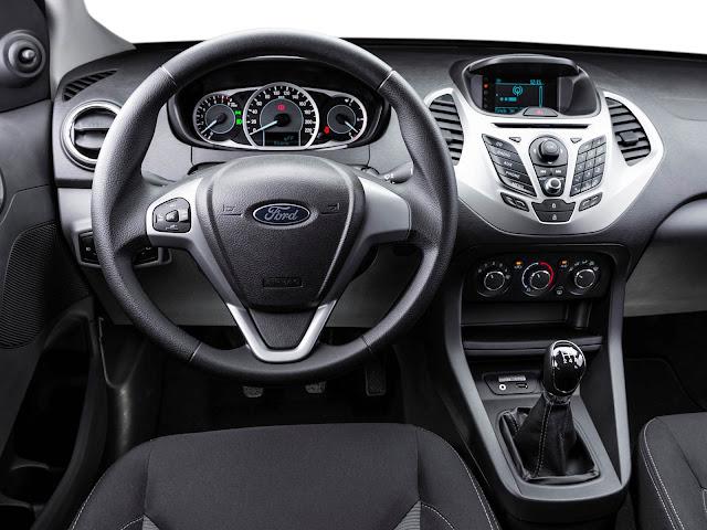 Novo Ford Ka 2016 - painel