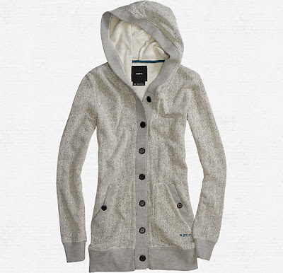 burton dogwood hooded cardigan
