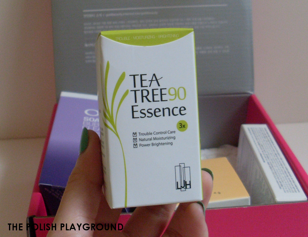 Memebox Luckybox #5 Unboxing - LJH Tea Tree 90 Essence