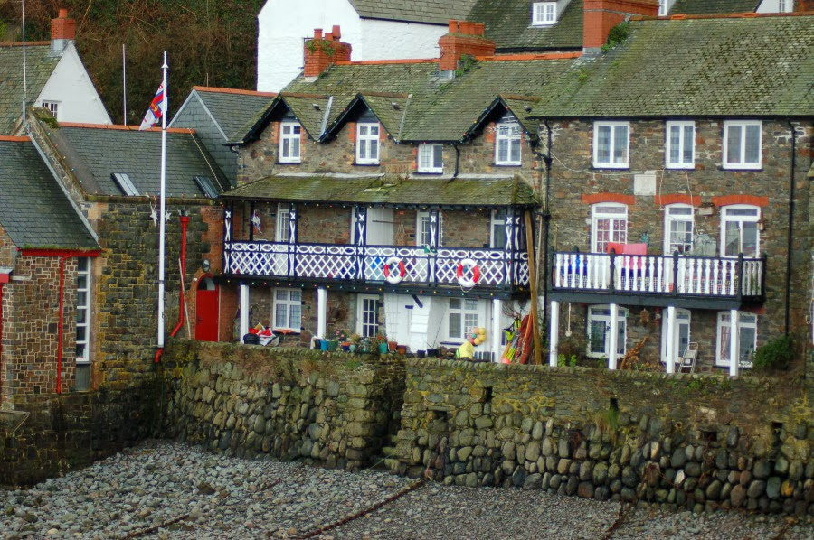 Clovelly in winter, North Devon