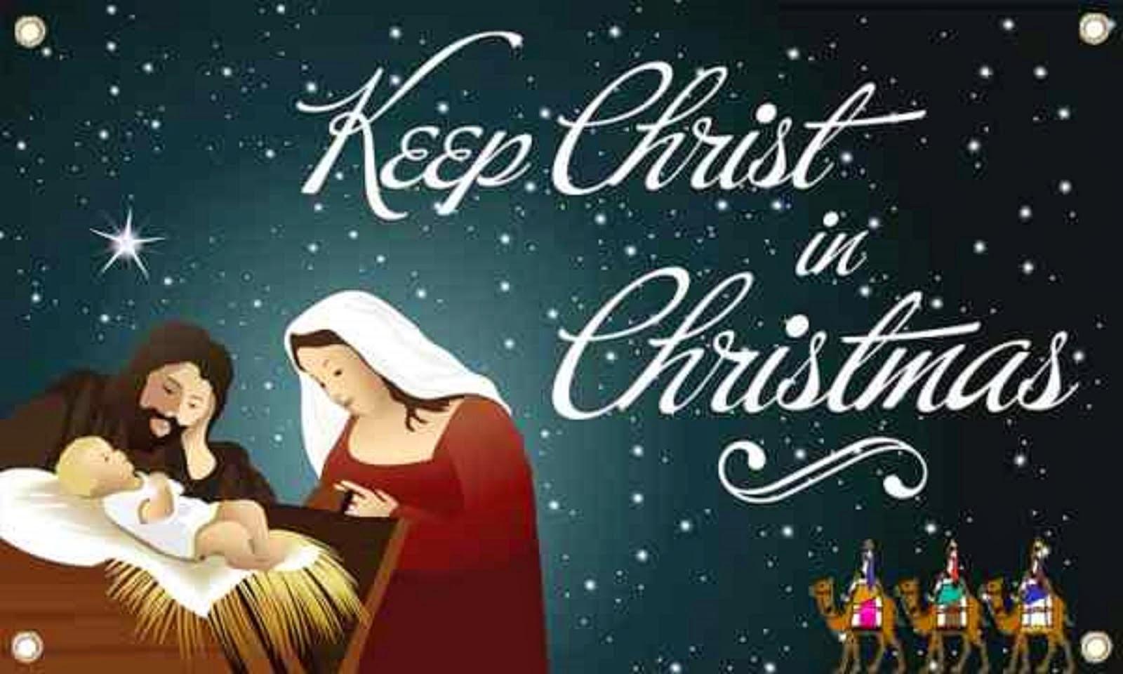 HELP KEEP CHRIST IN CHRISTMAS