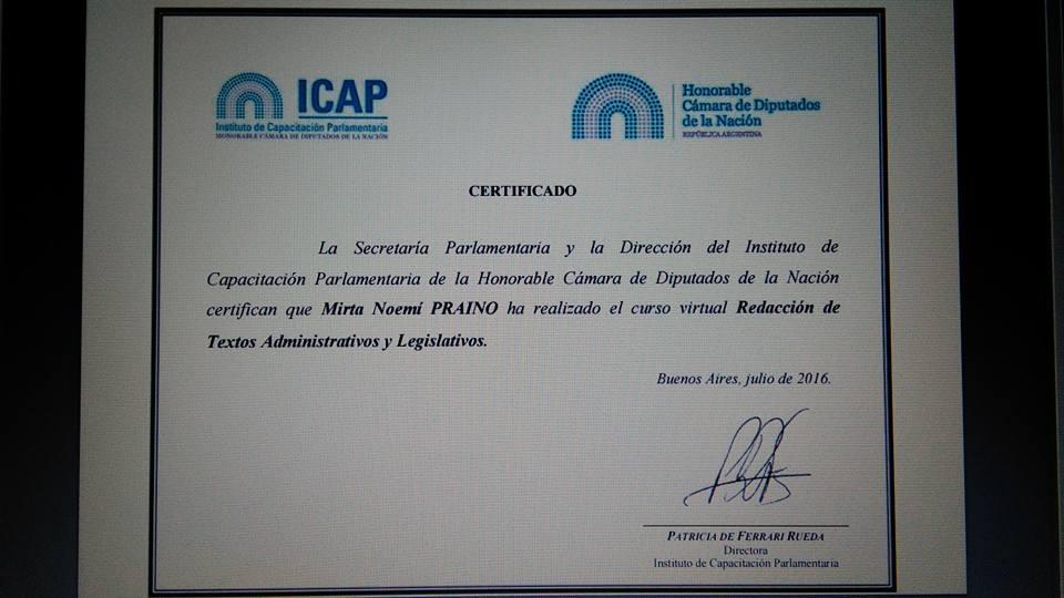 ICAP- Instituto de Capacitacion Parlamentaria- HCDN