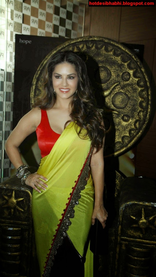Sunny Leone Hot in Saree Wallpapers
