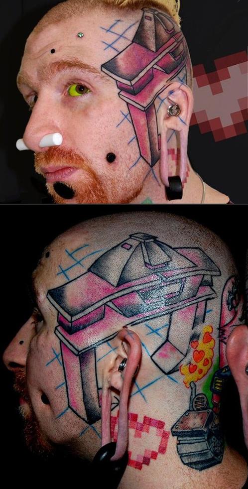 tatuagens piercings estranho bizarro fotos papai não me abraçou eu adoro morar na internet