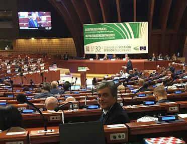 Pedro Puy no 32 Congreso de Poderes Locais e Rexionais do Consello de Europa