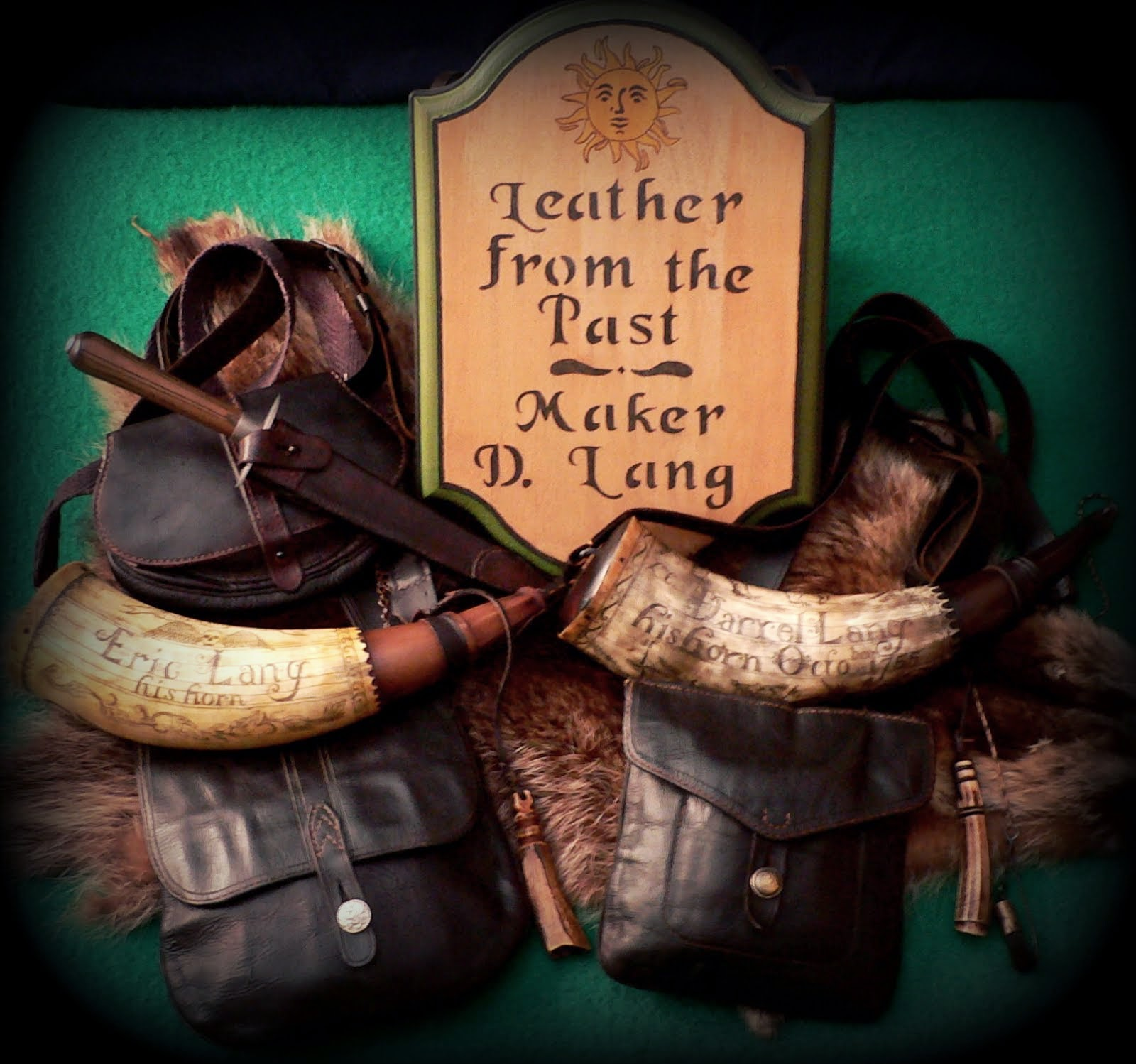 Leather Shot Bags & Accouterments for the French & Indian War.