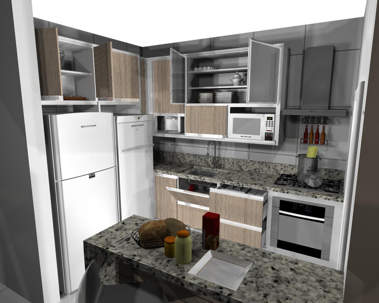Um estudio de decoracoes.: Cozinha Branca com Teka Barcelona granito  #5D4C3C 1280 1024