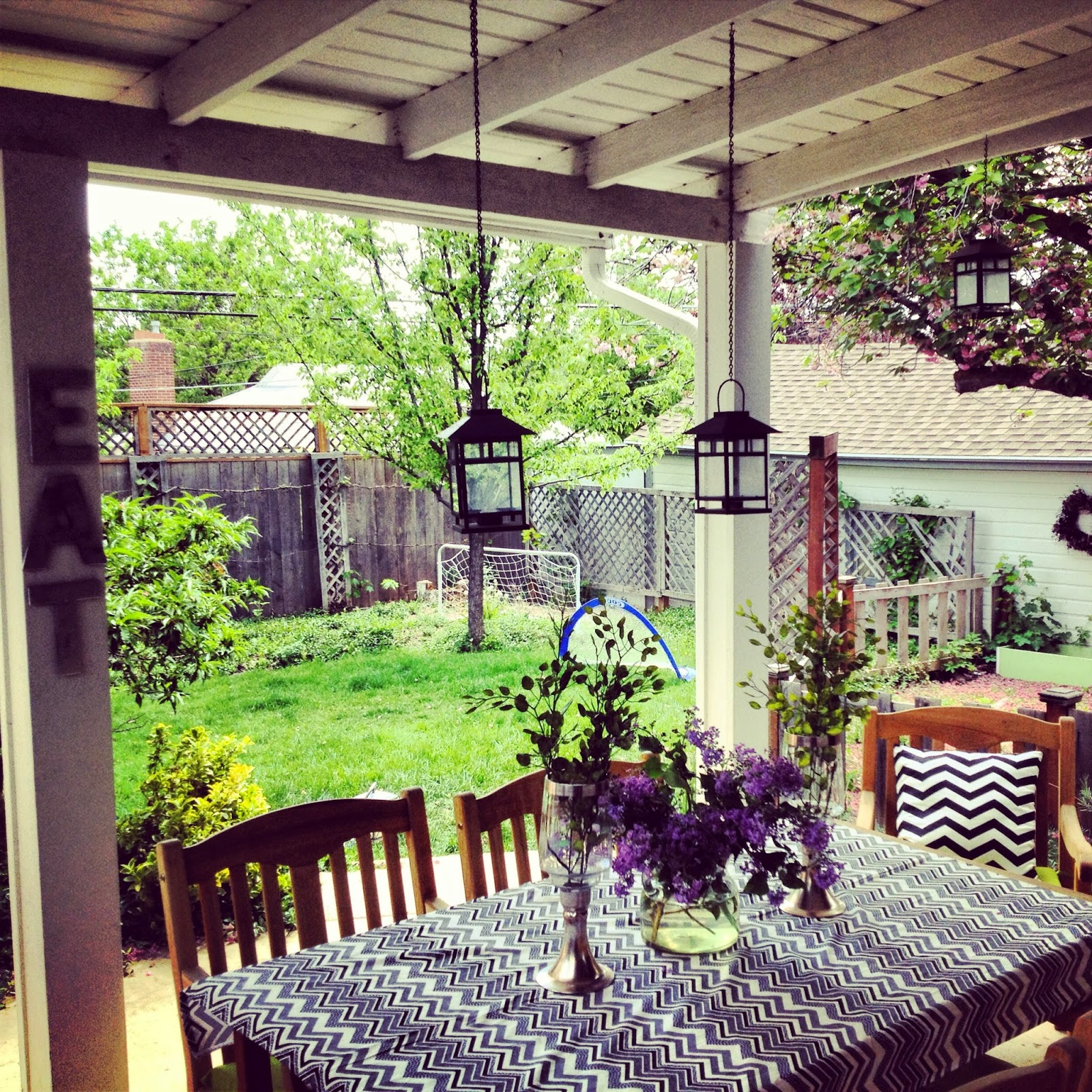 Small back porch decorating ideas for houses scenery for Small outdoor decorating ideas