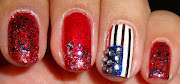 ♡Nails Right Hand: Instead of a typical flag I decided to do a flag in a .