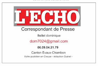 Passer vos infos sur Echo Info en creuse
