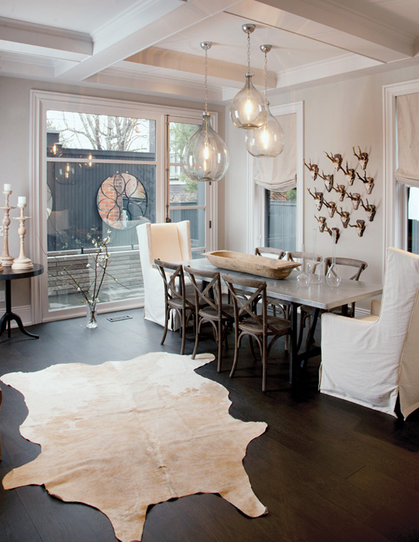 Parlour rustic glam for Glam dining room ideas
