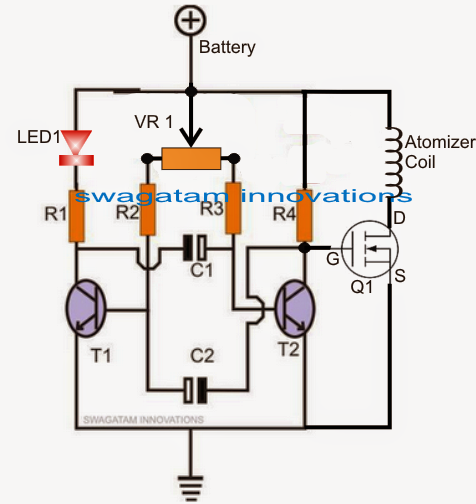 e cig schematic the wiring diagram atomizer circuit for e cigarettes pwm controlled electronic schematic