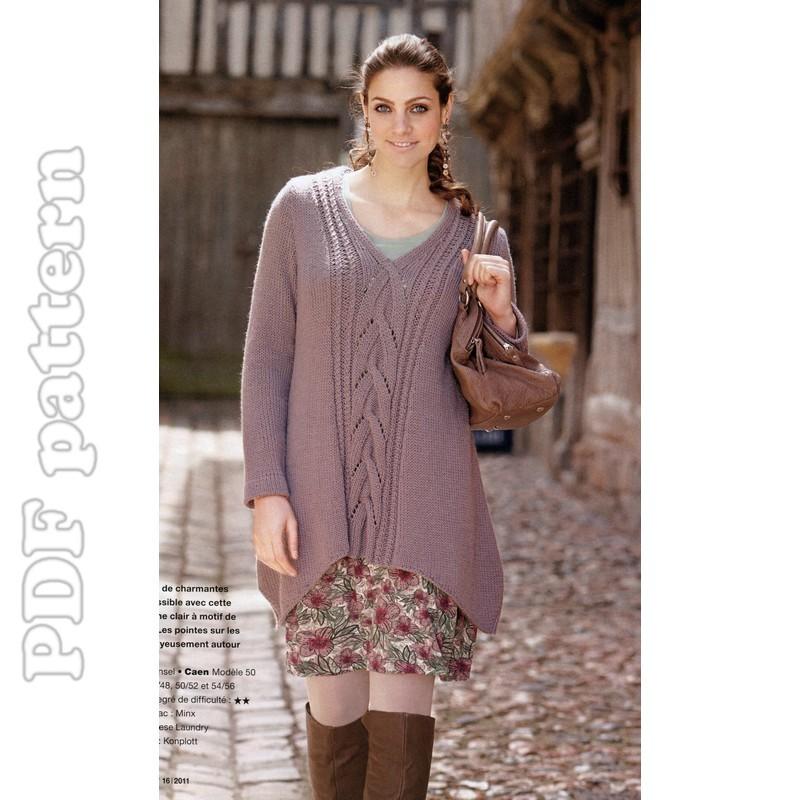 Plus Size Knitting Patterns : 2011-09-18 CraftyLine e-pattern shop