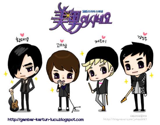gambar kartun korea gambar kartun romantis kartun cewek kartun cowok