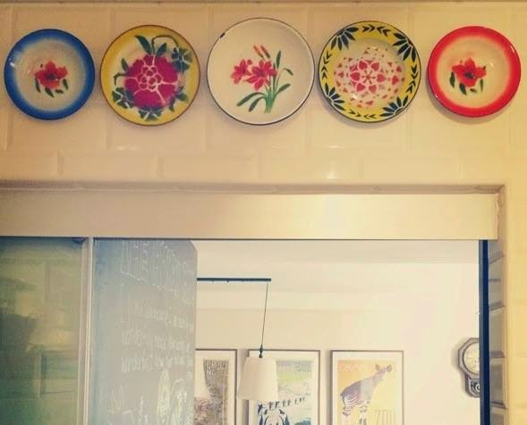 Mum in the making: Home: Our wall of enamels