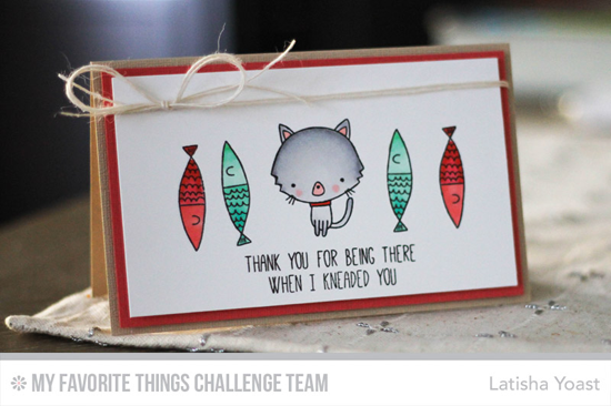 Cat & Fishies Card by Latisha Yoast featuring the Cat-itude stamp set #mftstamps