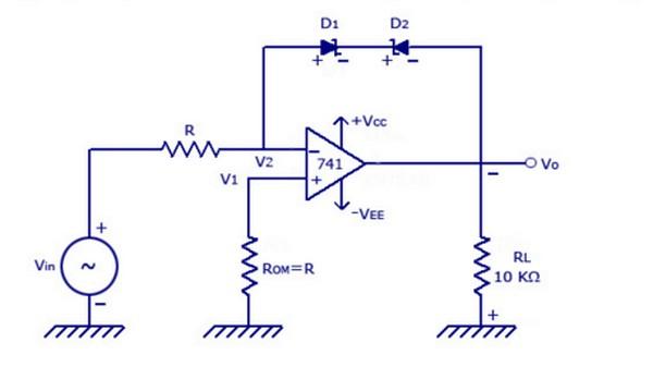 circuit schematic voltage limiter circuit using op amp lm741 ic rh electronicindex blogspot com Voltage Limiter Diode Circuits Input Voltage Limiter Circuit