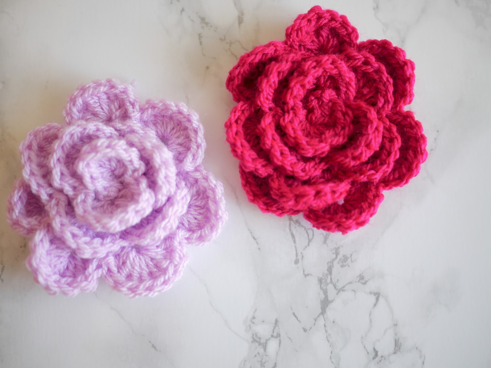 Crochet rose tutorial - Bella Coco by Sarah-Jayne