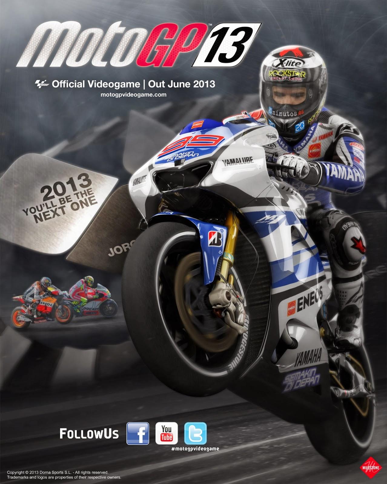 تجميل لعبة موتسكلات السباق الرياضية MotoGP 13 كاملة مع الكراك للكمبيوتر مجاناً