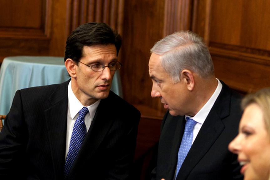 Eric Cantor and Benjamin Netanyahu