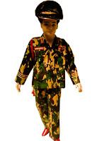 kostum profesi ABRI untuk anak