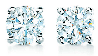 Tiffany Solitaire Diamond Studs Jewellery Every Woman SHould own