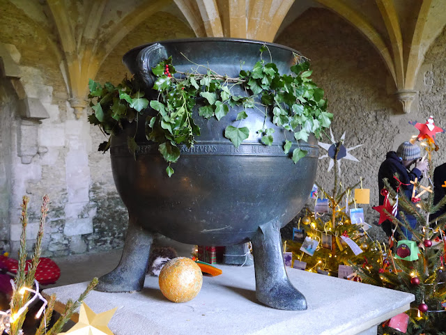 The cauldron in the Warming Room at Lacock Abbey