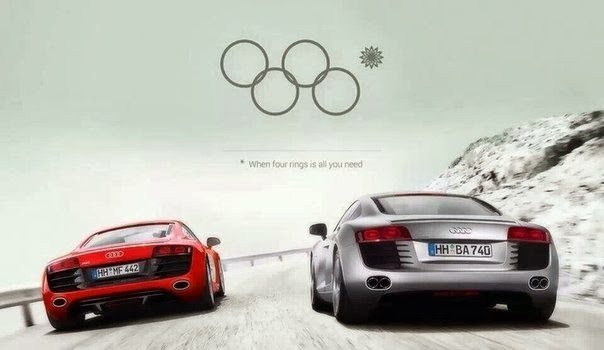 Audi - when four rings is all you need (fake ad)