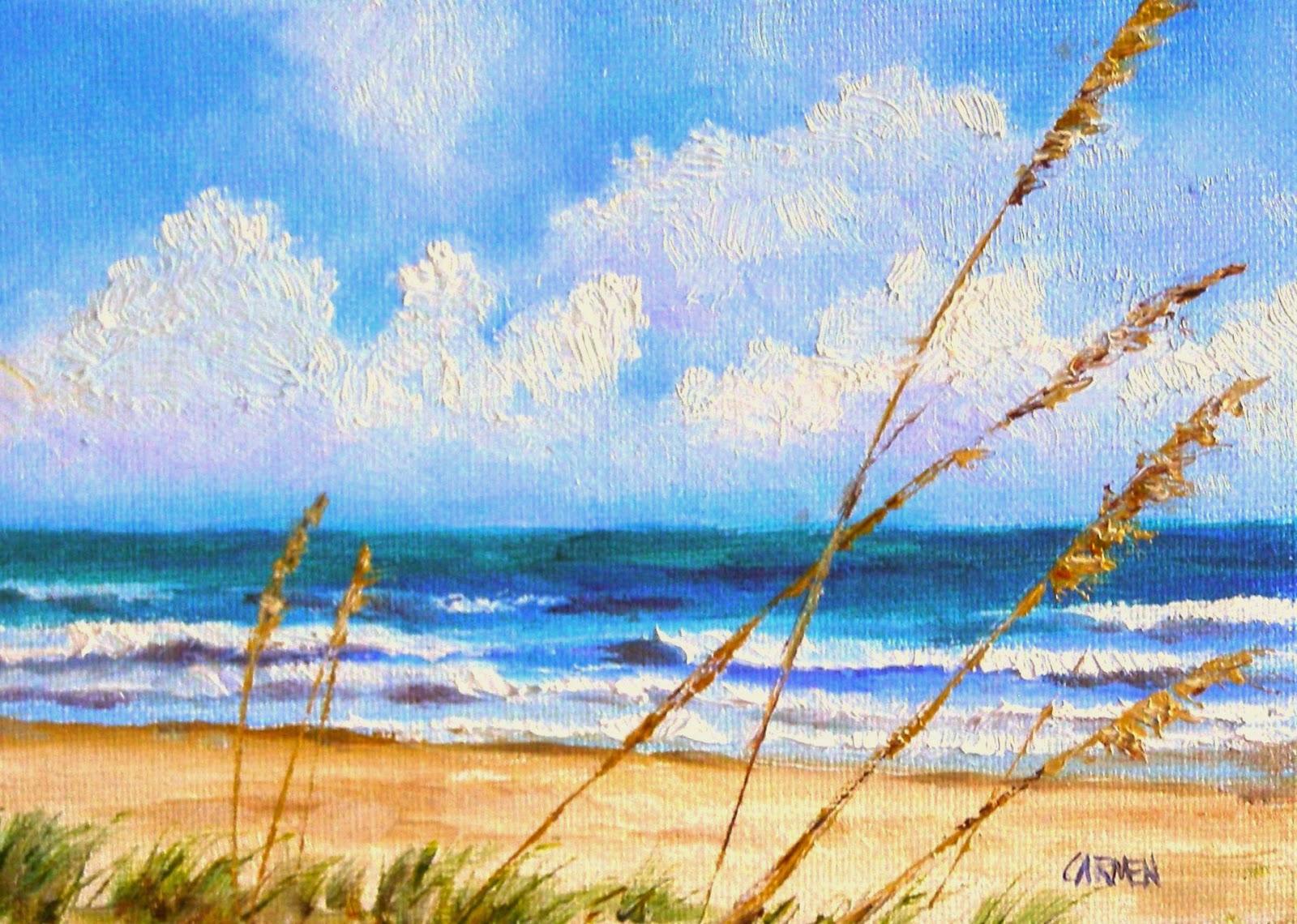 Beach Acrylic Painting Easy 81579 Loadtve