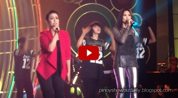 Lea Salonga and Sarah Geronimo perform at ABS-CBN Trade Event