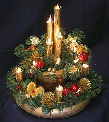 Llego navidad for Adornos navidenos con copas y velas