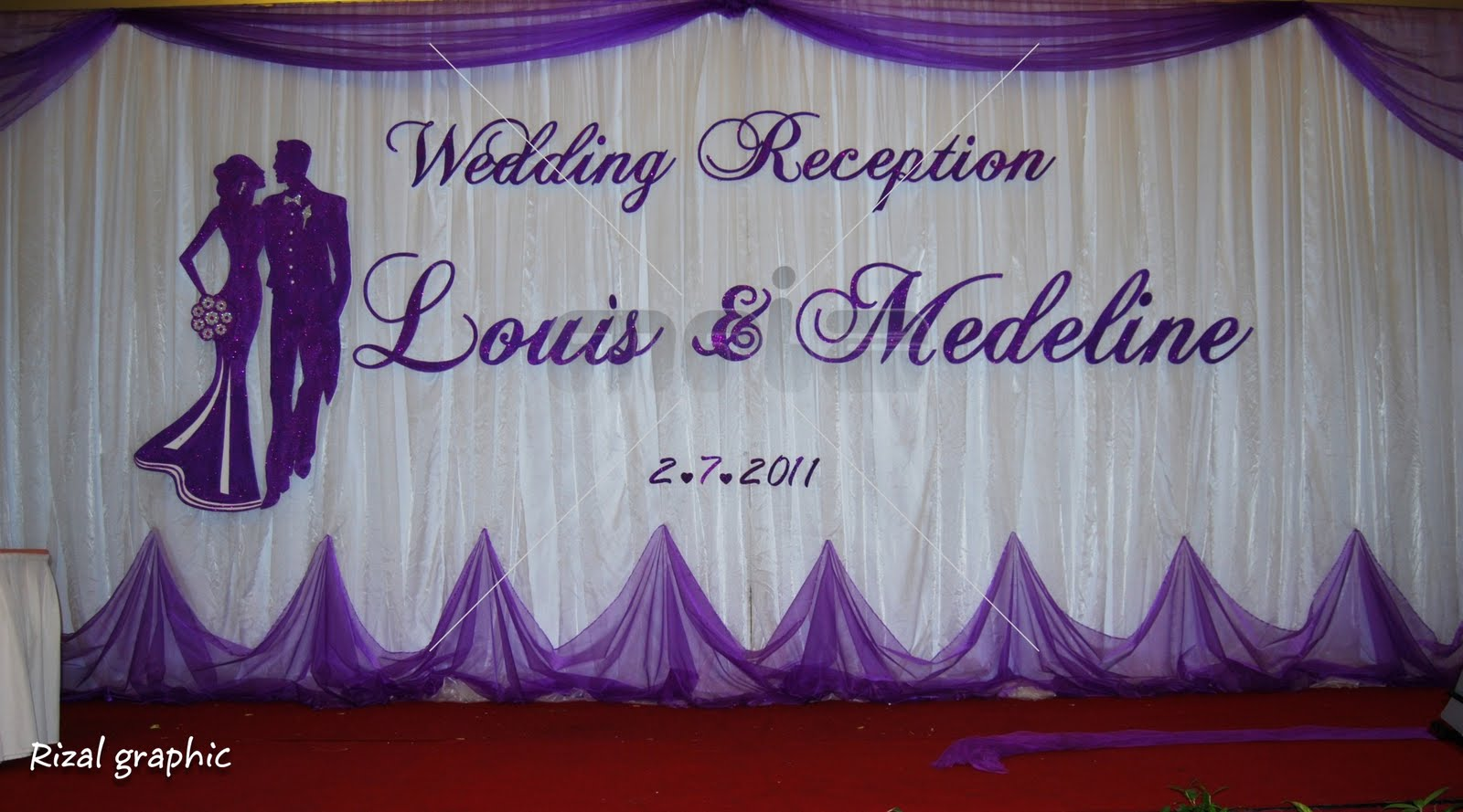 Wedding backdrop wedding backdrop for louis medeline for Wedding backdrops