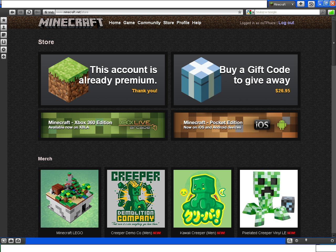 Minecraft premium account download
