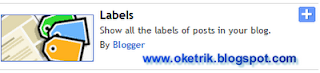 Labels/kategori - oketrik