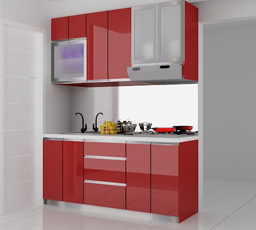 Desain Kitchen Set Hijau: Kitchenset Pelangi Desain Interior: Kitchen Set