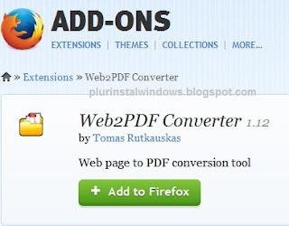 Cara Menyimpan Halaman Web Ke Bentuk PDF