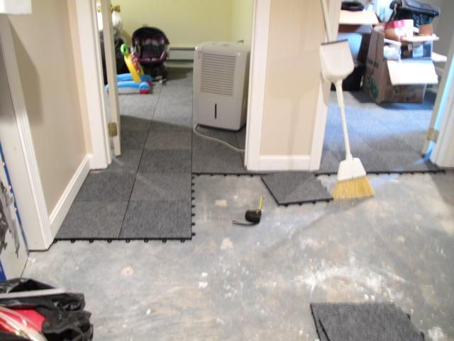 carpet flex floor tiles allow air and moisture to flow