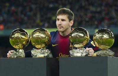 Messi - Bolas de Ouro