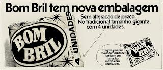 esponja Bom Bril.  os anos 70; propaganda na década de 70; Brazil in the 70s, história anos 70; Oswaldo Hernandez;