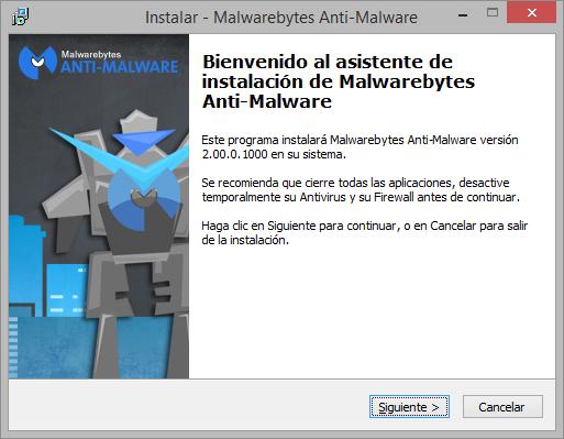 Malwarebytes Anti-Malware Premium 2 instalacion