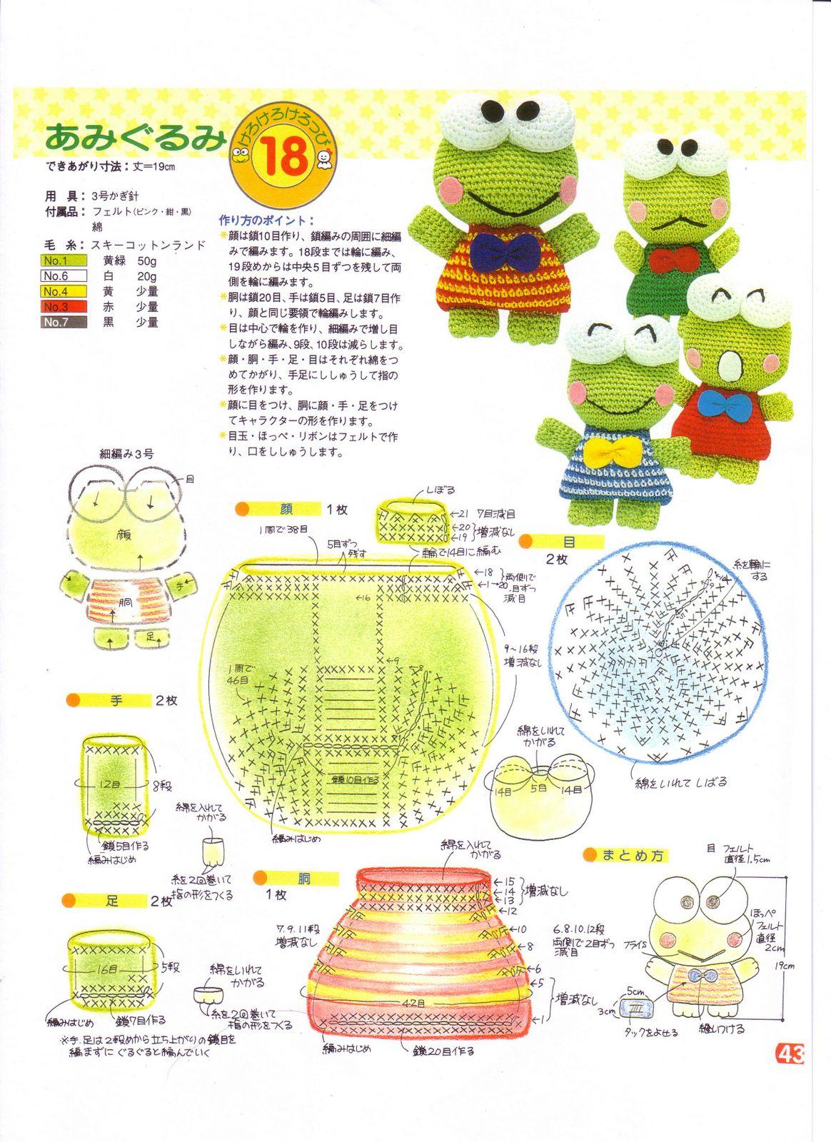Free Super Mario Amigurumi Patterns : Keroppi - Agujas, Hilos... Crochet!!!