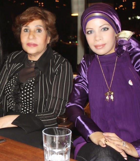 مع الفنانة القديرة سميرة محسن عام 2010