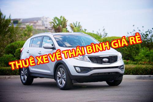 cho thuê xe ô tô về Thái Bình có lái 1 chiều
