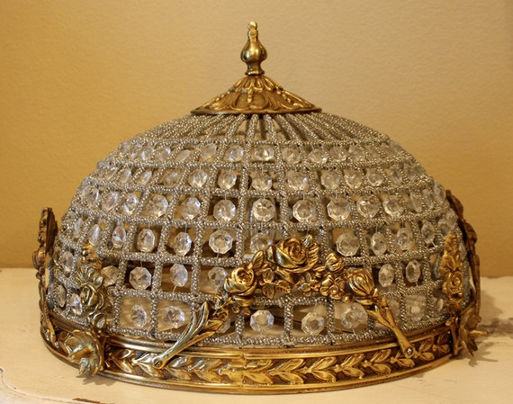 Antique French Beaded Chandelier - Maison Decor: Antique French Beaded Chandelier
