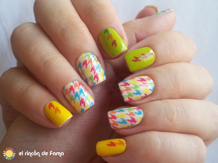 Houndstooth nails | el rincon de fama | lady queen beauty