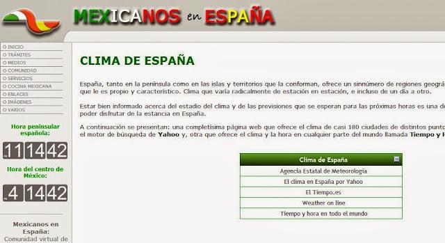 http://www.mexicanosenespana.com/clima.htm