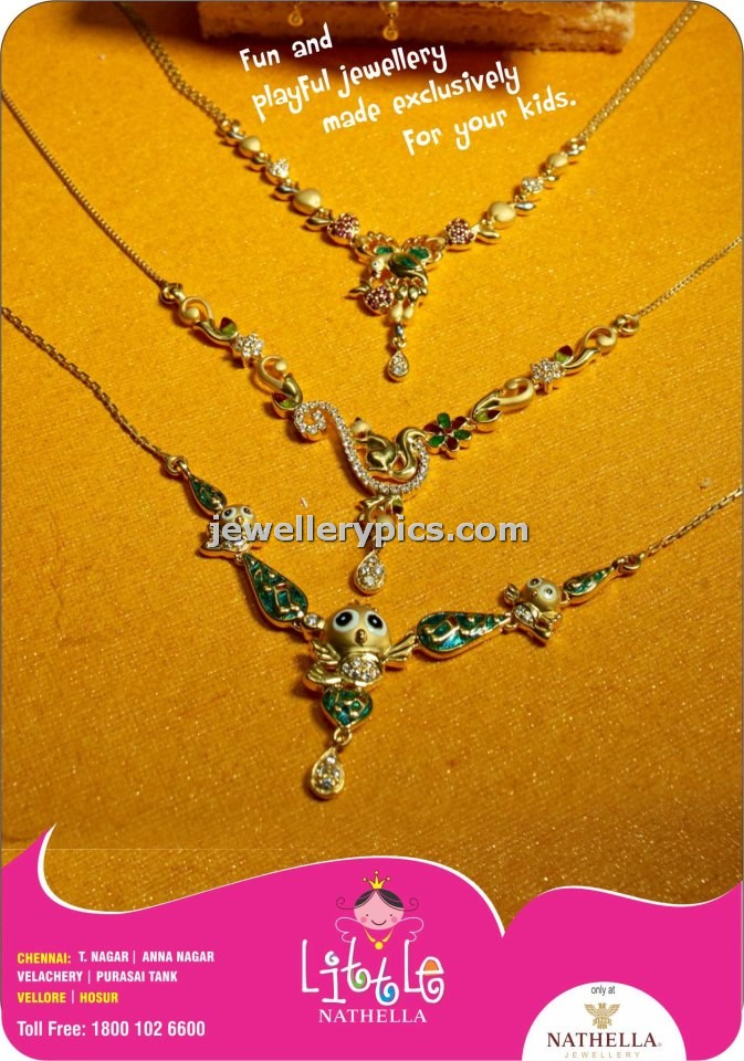 8 cute gold necklace designs for kids by Nathella - Latest Jewellery ...